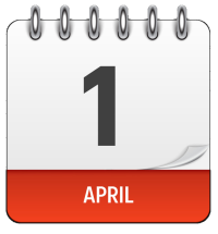 april 1 calendar page